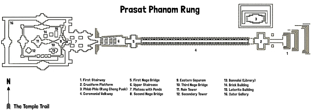 Map of Prasat Phanom Rung