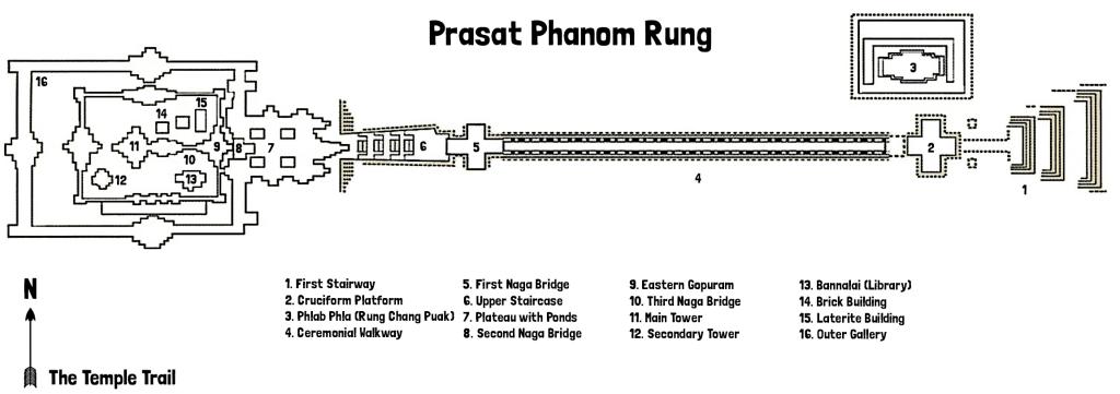 Map of Prasat Phanom Rung