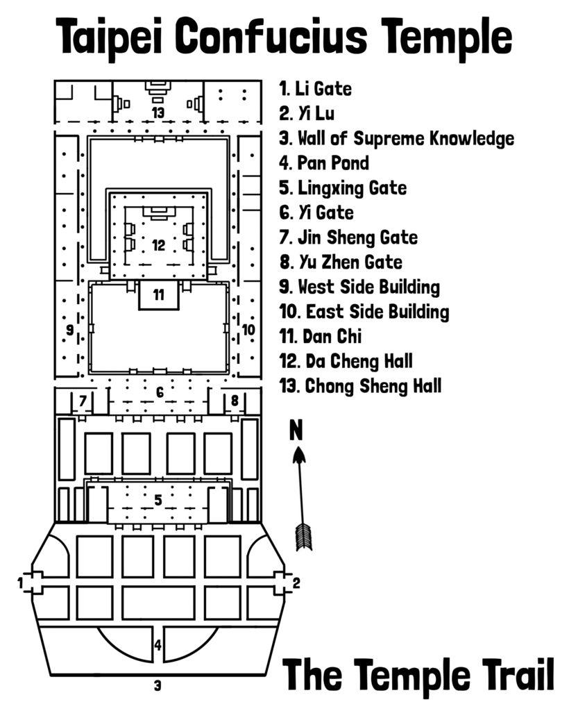 Taipei Confucius Temple Map