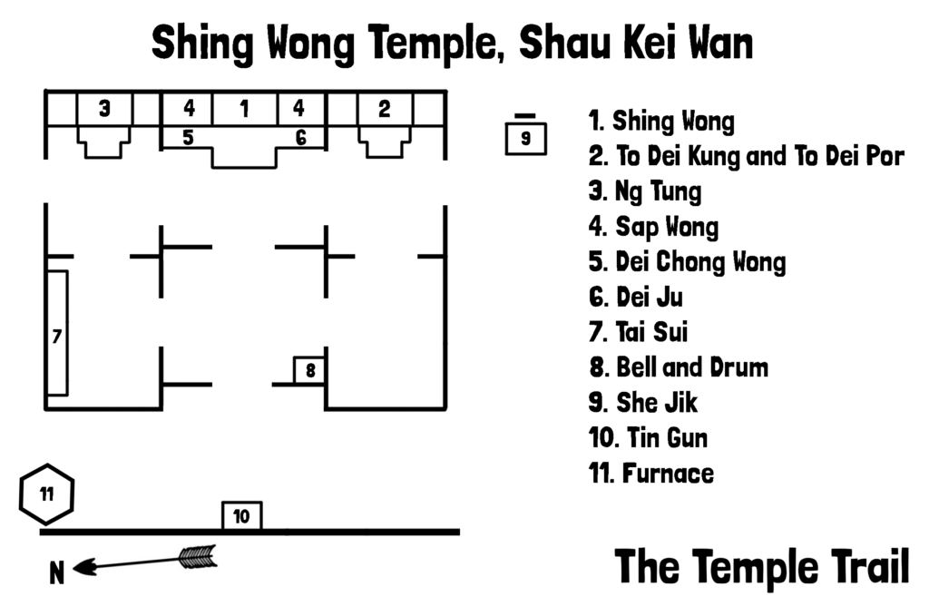 Shing Wong Temple Map